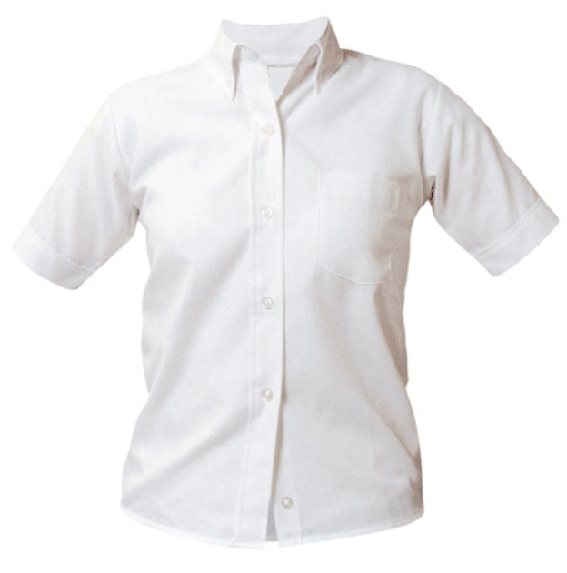 Community of Saints Regional Catholic School - Girls Oxford Dress Shirt - Short Sleeve