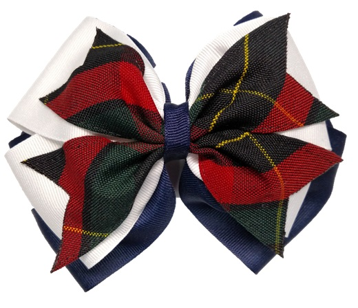 Hair Bow - Extra Large - Plaid #66