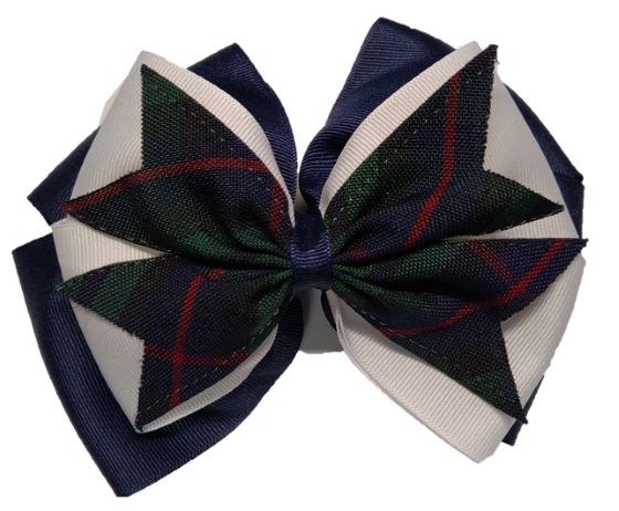 Hair Bow - Extra Large - Plaid #98