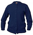 Holy Spirit Catholic School - Girls Crewneck Cardigan Sweater