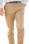 Men's Flat Front Slim Chino Pants - Khaki