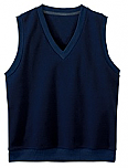 Assumption Catholic School - Unisex V-Neck Microfleece Vest - Elderado