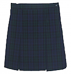 #3477 Box Pleat Skirt - Polyester/Cotton - Plaid #77