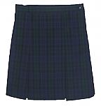 #3477 Box Pleat Skirt - Polyester/Cotton - Plaid #77