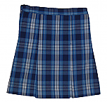 Traditional Waist Skirt - Box Pleats - Polyester/Cotton - Plaid #76