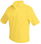 Unisex Mesh Knit Polo Shirt - Short Sleeve - Yellow