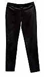 Girls Mid-Rise Slender Fit Flat Front Pants with Stretch #2526 - Black
