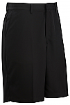 Men's Microfiber Dress Shorts - Flat Front #2472 - Black