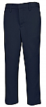 Boys Performance Microfiber Flat Front Pants - A+ 7014/7899 - Navy Blue