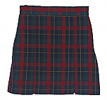 #3466 Box Pleat Skirt - 100% Polyester - Plaid #66