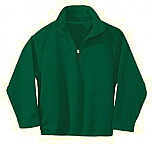 St. Luke the Evangelist - Unisex 1/2 Zip Microfleece Pullover Jacket - Elderado