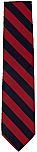 Neck Tie - Navy and Red Stripes