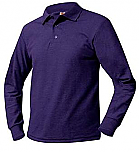 The Journey School - Unisex Mesh Knit Polo Shirt - Long Sleeve