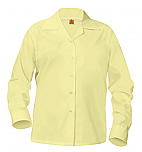 Girls Classic Collar Blouse - Long Sleeve - Yellow