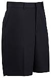Men's Microfiber Dress Shorts - Flat Front #2472 - Navy Blue