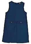 St. Croix Preparatory Academy - Drop Waist Jumper - Box Pleats - 100% Polyester - Navy Blue