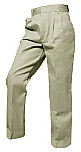 Boys Twill Pants - Pleated Front - A+ #7000/7062 - Khaki