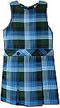Drop Waist Jumper - Box Pleats - 100% Polyester - Plaid #46