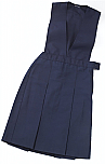 K-12 #2760 Split Front Jumper - Box Pleats - Navy Blue