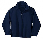 Nativity of Our Lord - Unisex 1/2 Zip Microfleece Pullover Jacket - Elderado