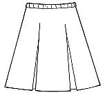 #34 Box Pleat Skirt - Polyester/Cotton