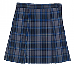 #3447 Box Pleat Skirt - 100% Polyester - Plaid #47