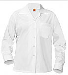 Girls Classic Collar Blouse - Long Sleeve - White