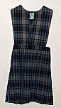 #7247 Split Front Jumper - Knife Pleats - 100% Polyester - Plaid #47