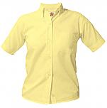 Girls Oxford Dress Shirt - Short Sleeve - Yellow