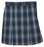 Traditional Waist Skirt - Box Pleats - Polyester/Cotton - Plaid #80