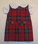 18 Inch Doll Jumper - Drop Waist with Peter Pan Blouse - Plaid #70