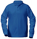 St. Helena Catholic School - Unisex Interlock Knit Polo Shirt with Banded Bottom - Long Sleeve