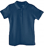 St. Mary's School - New Richmond - Girls Fitted Interlock Knit Polo Shirt - Short Sleeve