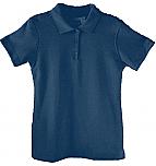 St. Mary's School - New Richmond - Girls Fitted Interlock Knit Polo Shirt - Short Sleeve