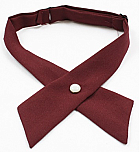 Girls Crossover Neck Tie - Burgundy