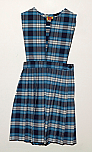 Split Front Jumper - Knife Pleats - Poly/Cotton - Plaid #76