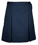 #344 Box Pleat Skirt - Polyester/Cotton - Navy Blue