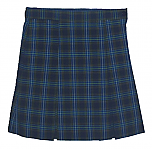 #3427 Box Pleat Skirt - Polyester/Cotton - Plaid #27