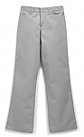 Girls Mid-Rise Super Soft Twill Pants - Flat Front - #4025/4124/4047 - Grey