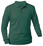 St. Therese School - Unisex Interlock Knit Polo Shirt - Long Sleeve