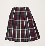 Drop Waist Skirt - Knife Pleats - 100% Polyester Plaid