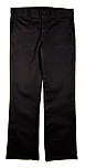 Girls Mid-Rise Slim Fit, Straight Leg Flat Front Pants with Stretch #2527 - Black