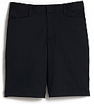 Girls Mid-Rise Bermuda Shorts - Stretch - Flat Front - #2444 - Navy Blue