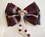 Hair Bow - Large with Heart & Tassels