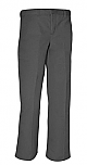 Men's Relaxed Fit, Flat Front Dress Pants - Charcoal Grey
