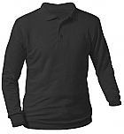 DeLaSalle High School - Unisex Interlock Knit Polo Shirt - Long Sleeve