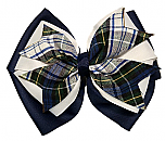 Hair Bow - Extra Large - Plaid #80