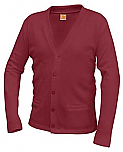 Holy Spirit Academy - Unisex V-Neck Cardigan Sweater with Pockets