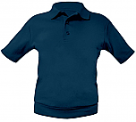 St. Alphonsus School - Unisex Interlock Knit Polo Shirt with Banded Bottom - Short Sleeve