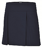 A+ #1106 - Hipster Skort - Box Pleats - Navy Blue